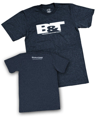 NEW BOB & TOM Short Sleeve T-Shirt - Heather Navy