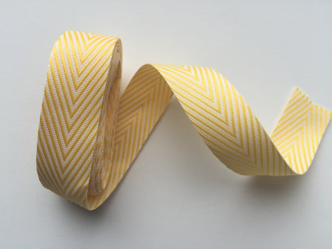 May Arts Yellow Chevron Twill