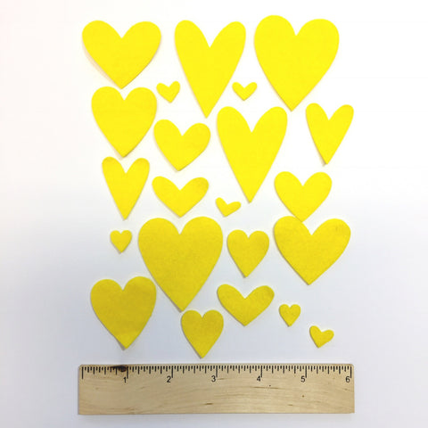Love U Tons Felties - Yellow