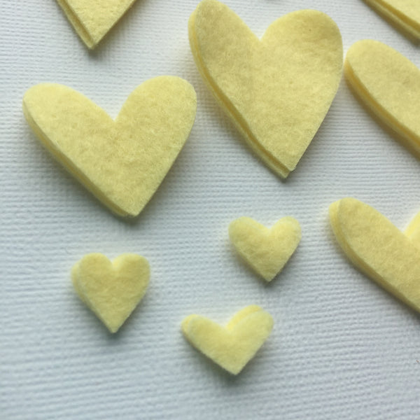 Love You Tons Felties - Light Yellow