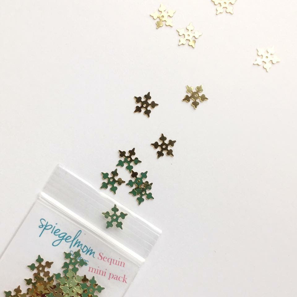 Gold Metallic Snowflakes