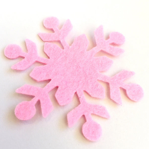 Perfectly Pink Felt Flakes