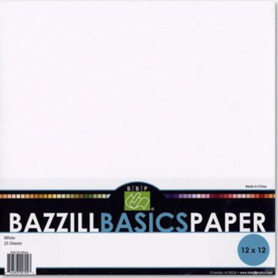 Bazzill white (Avalanche) textured cardstock