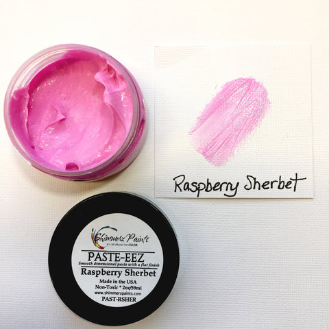 Raspberry Sherbet Paste-eez