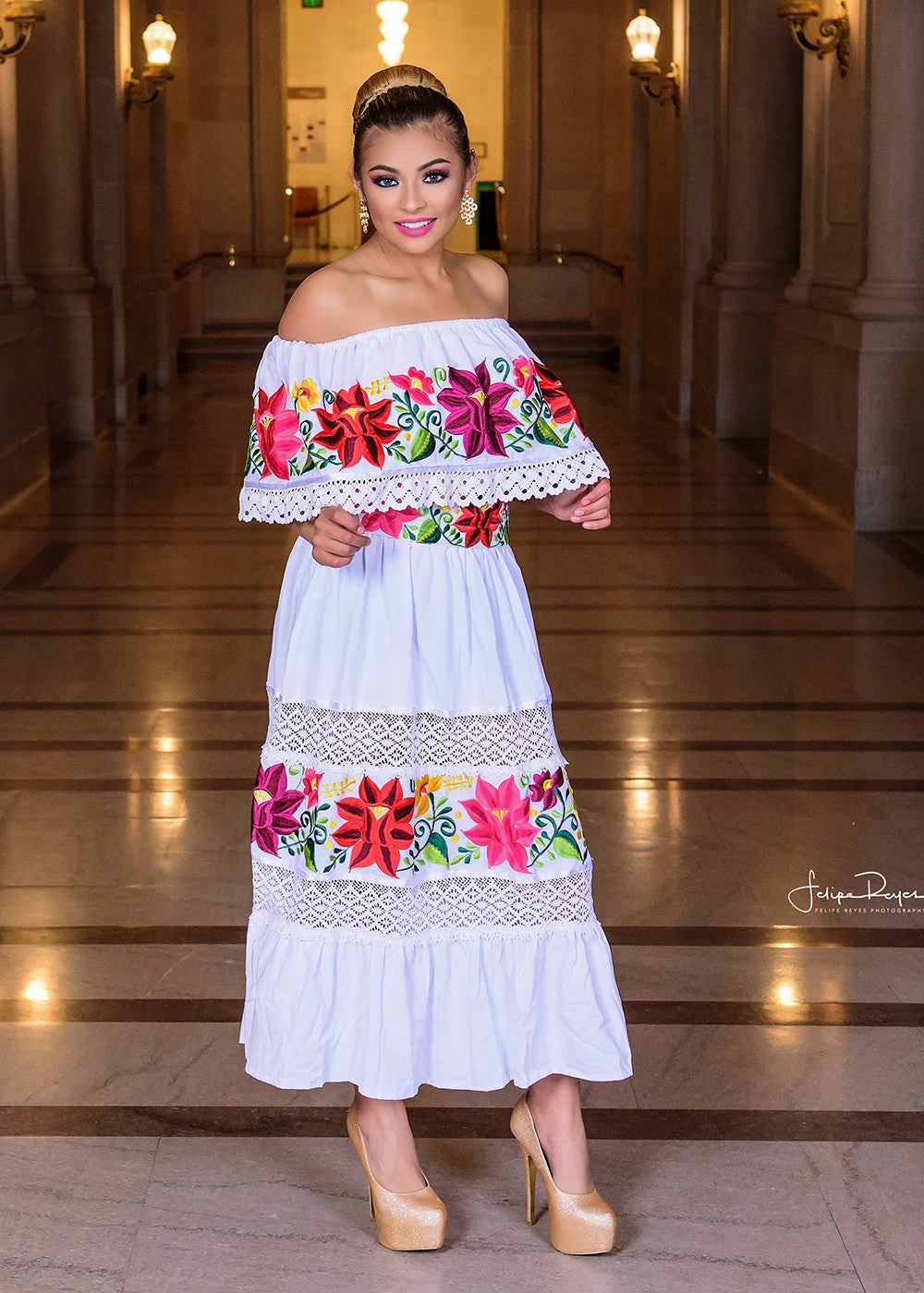 Gloria vidal authentic embroidery from mexico for Mexican wedding dresses for sale