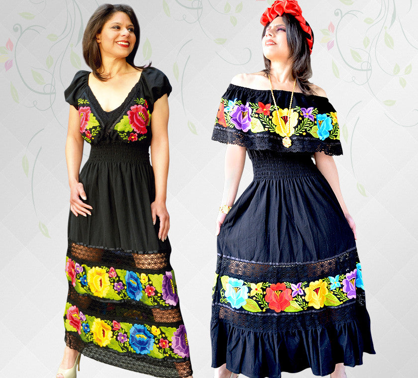 a35cec39019 HAND EMBROIDERED AUTHENTIC FROM MEXICO. Exclusive Dress