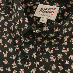 Naked & Famous Denim Vintage Flowers - Black
