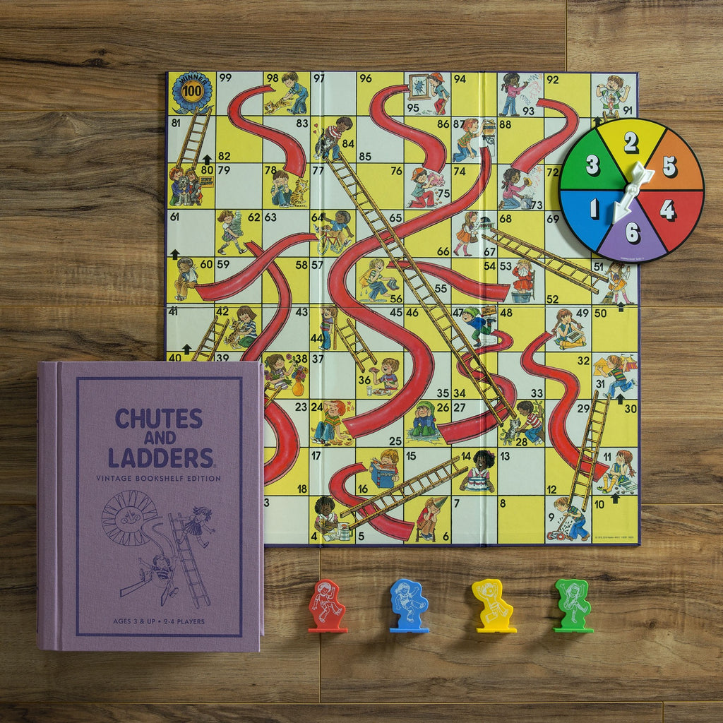 CHUTES AND LADDERS BOOKSHELF GAME