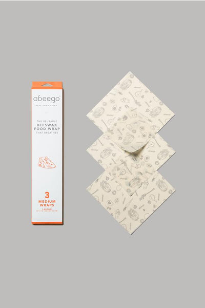 ABEEGO - beeswax food wrap - MEDIUM
