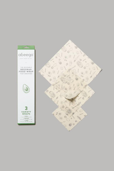 ABEEGO - beeswax food wrap - VARIETY PACK