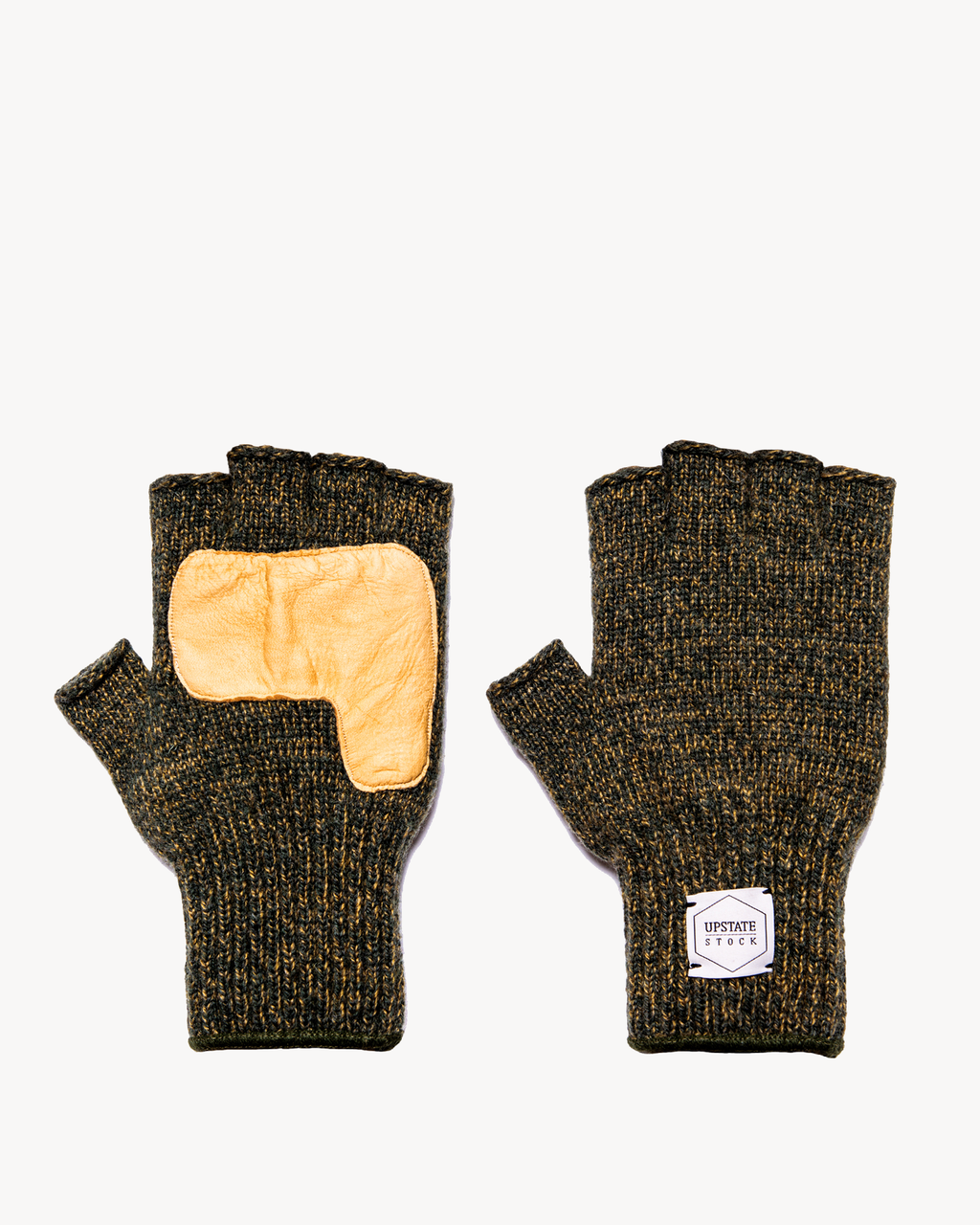 Jungle Fingerless Glove with Natural Deerskin