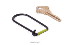 WILSON KEY RING - CARBON BLACK ENAMEL & CHARTREUSE