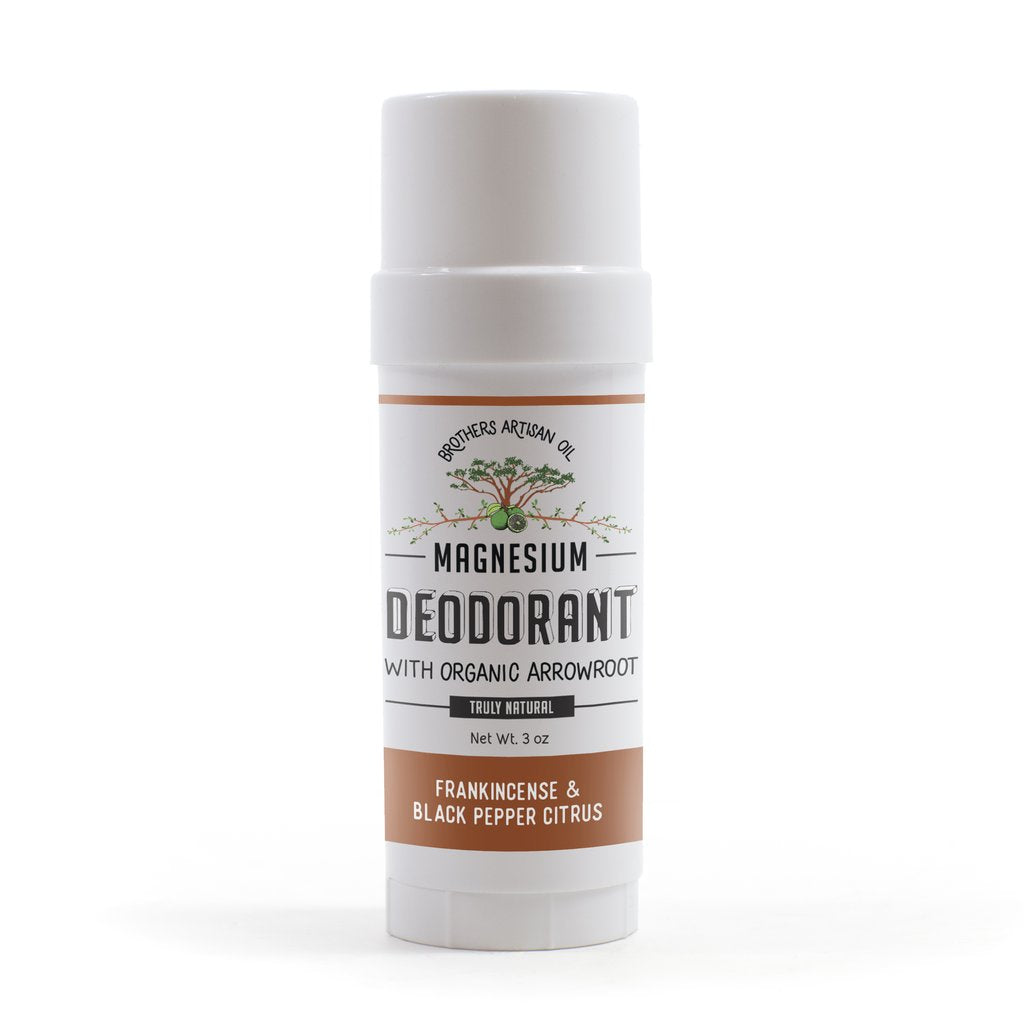 Magnesium Stick Deodorant - Frankincense & Black Pepper Citrus