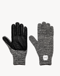 Charcoal Melange with Black Deerskin Full Glove