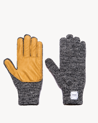 Charcoal Melange with Natural Deerskin Full Glove