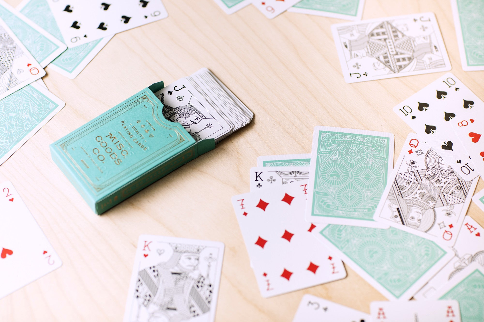 MISC-GOODS PLAYING CARDS - GREEN DECK
