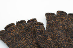 RUST MELANGE FINGERLESS RAGG WOOL GLOVES