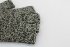 DARK MELANGE FINGERLESS RAGG WOOL GLOVES