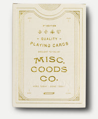 MISC-GOODS PLAYING CARDS - IVORY DECK