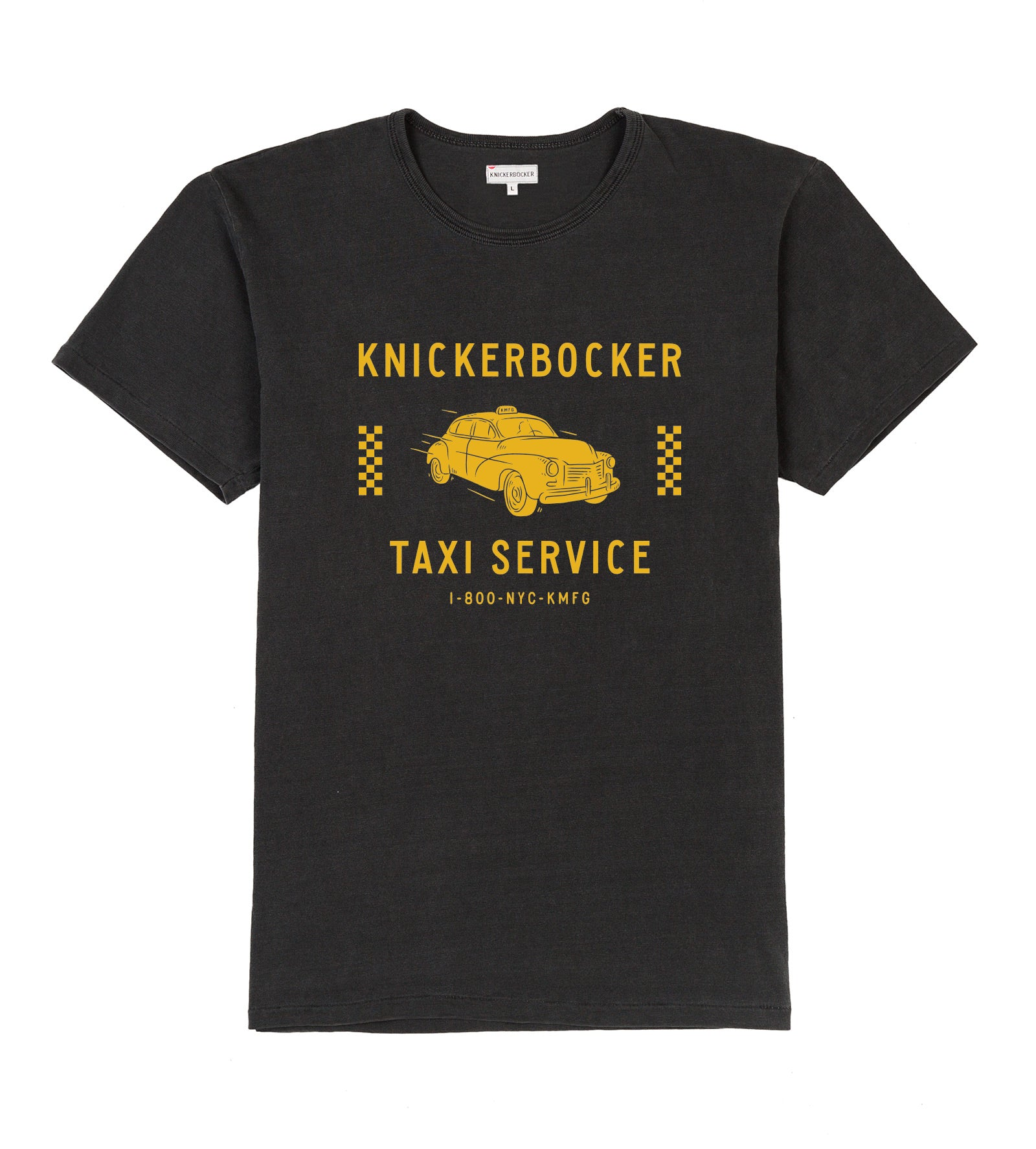 YELLOW CAB TUBE TEE - Coal/Yellow