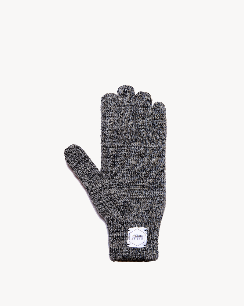 Charcoal Melange Ragg Wool Full Glove