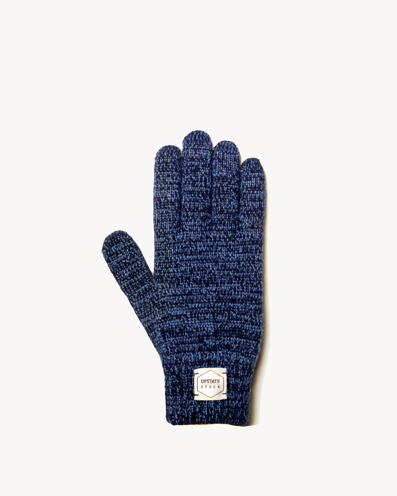 Denim Melange Ragg Wool Full Glove