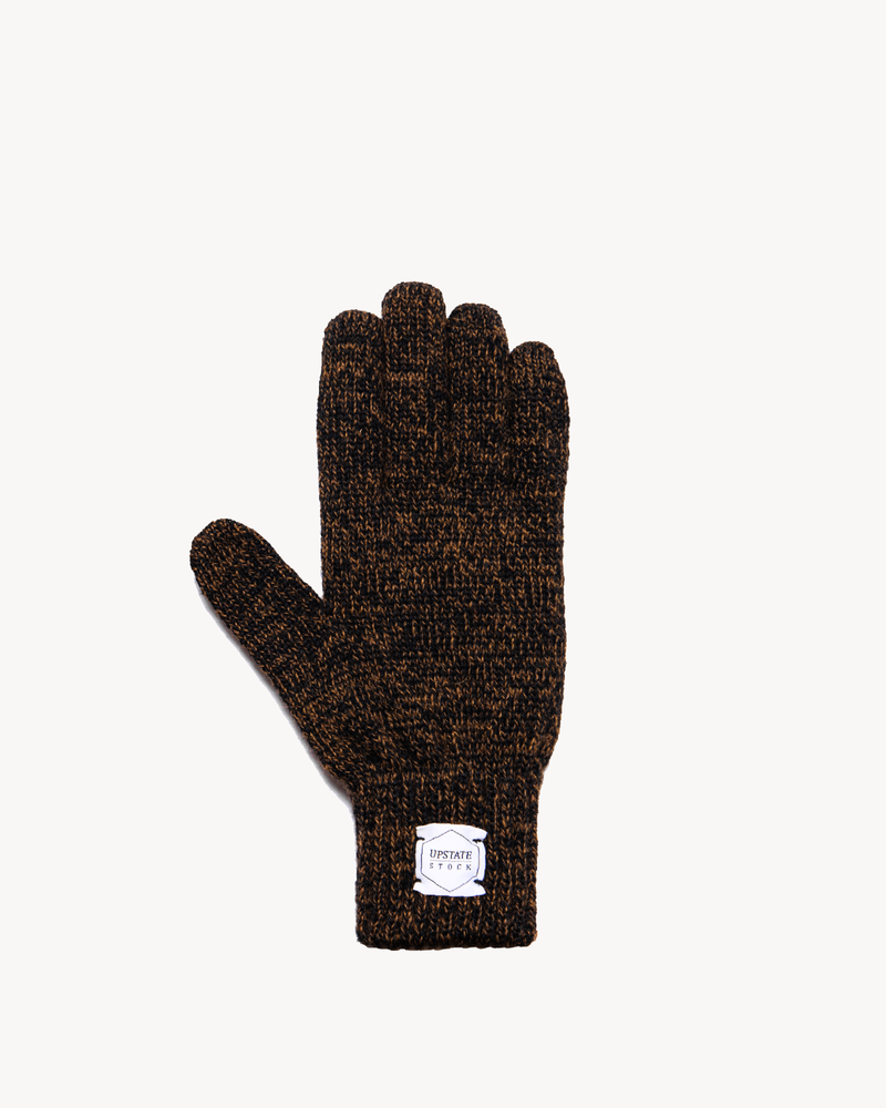 Rust Melange Ragg Wool Full Glove