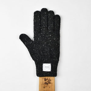 Black Tweed Ragg Wool Full Glove
