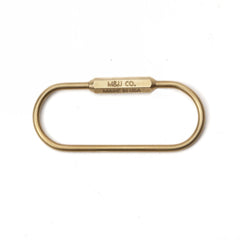 PILL KEY RING - BRASS
