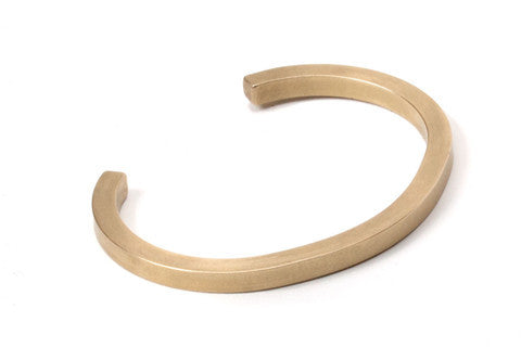UNIFORM SQUARE CUFF - BRASS