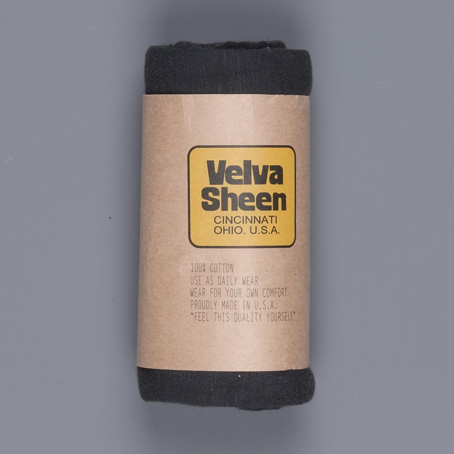 VELVASHEEN ROLL TEE - BLACK