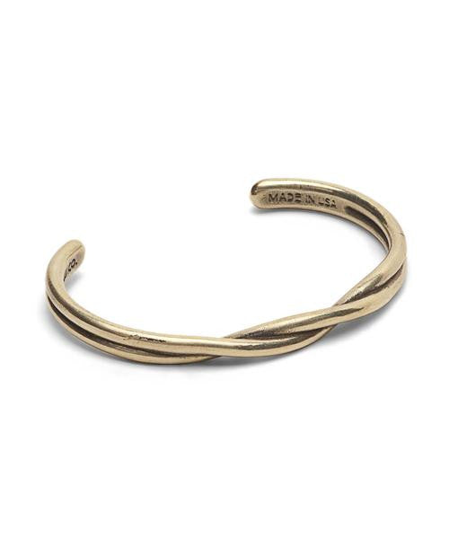 BRASS TWISTED CUFF