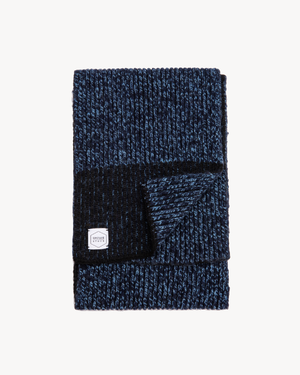 Denim Melange Ragg Wool Scarf