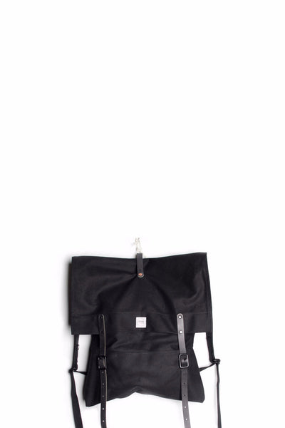UPSTATE STOCK X D'EMPLOI RUCKSACK - BLACK LIGHTWEIGHT CANVAS