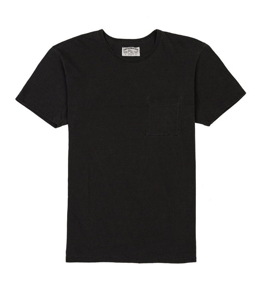 BLACK POCKET TUBE TEE