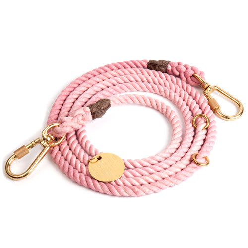 Blush Cotton Rope Leash