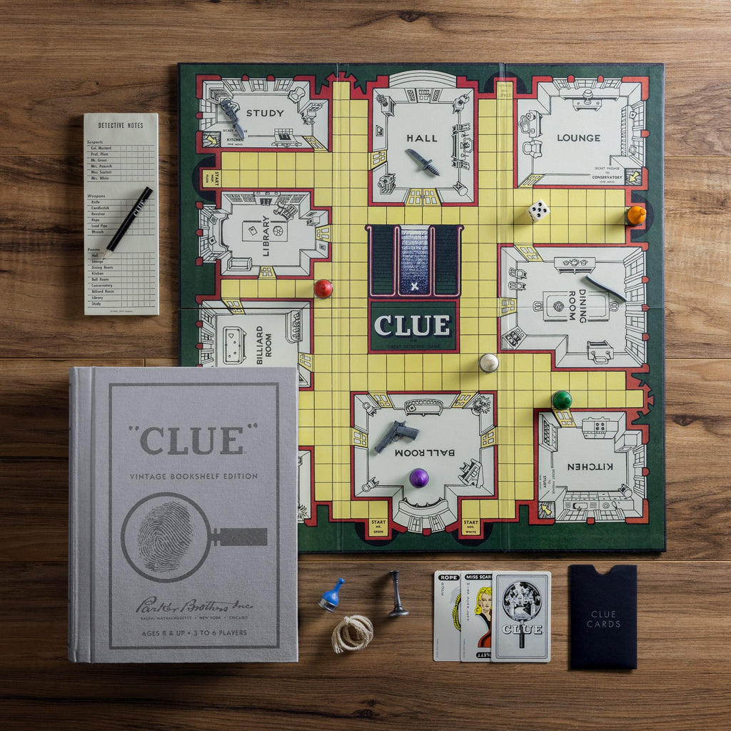 CLUE BOOKSHELF GAME