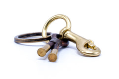 FLINT KEYCHAIN • Leather • .22 Brass