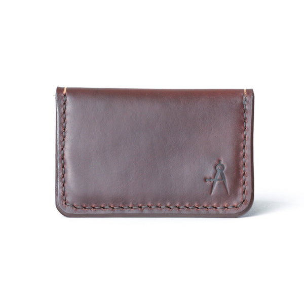 Fold Over Card Wallet - Brown
