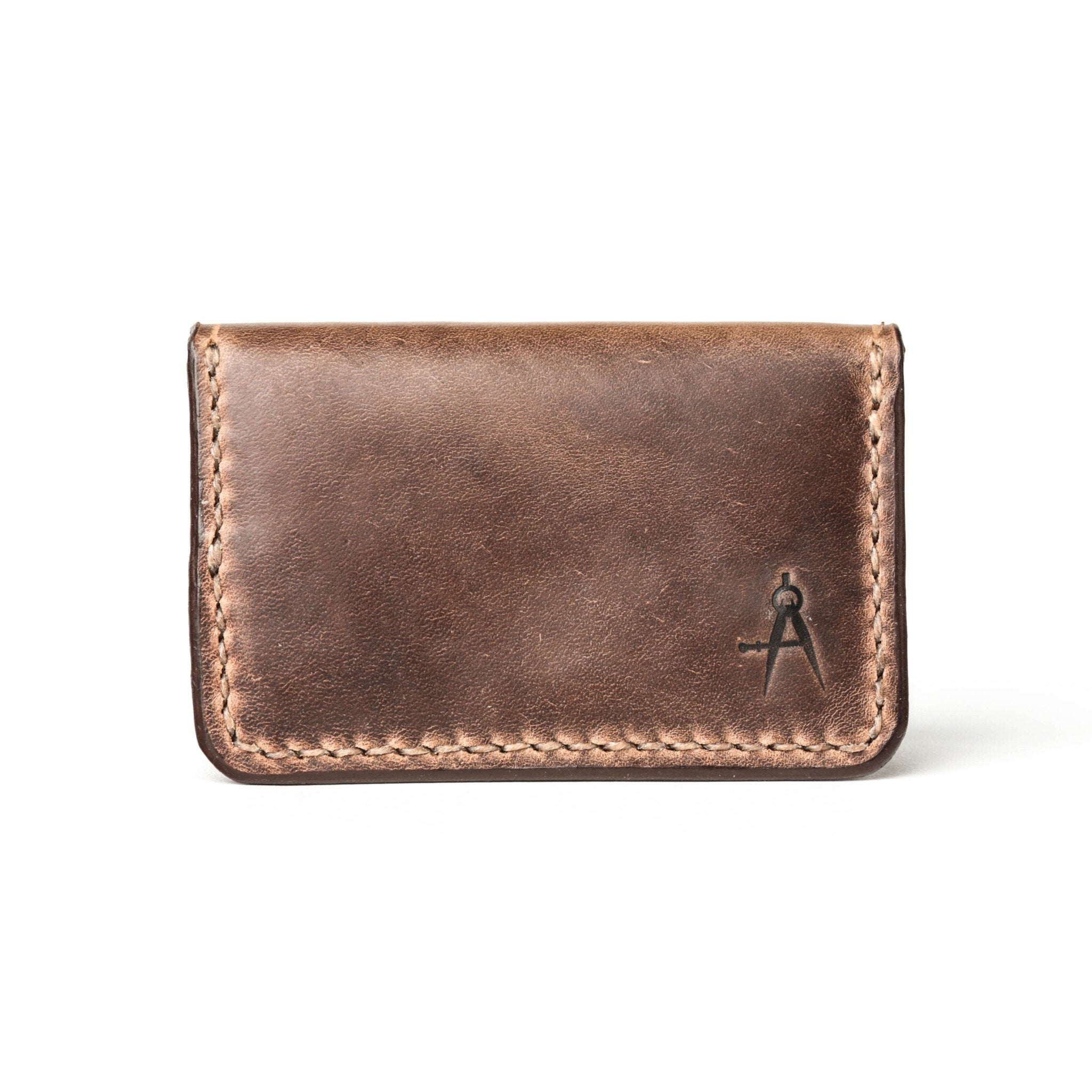 Fold Over Card Wallet - Stone