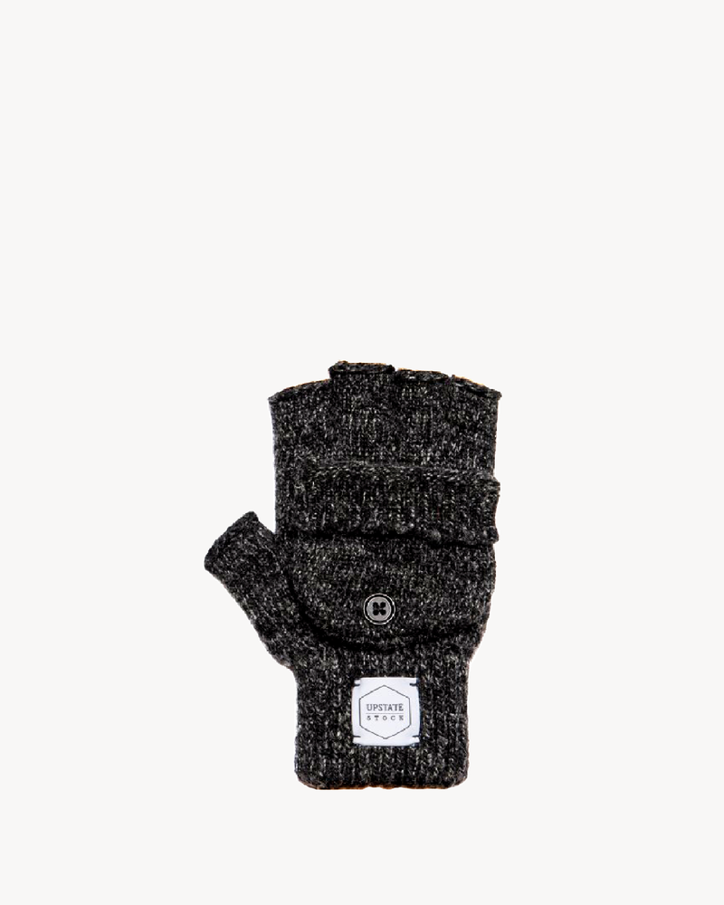 Black Melange Convertible Fingerless 'Glomitt'