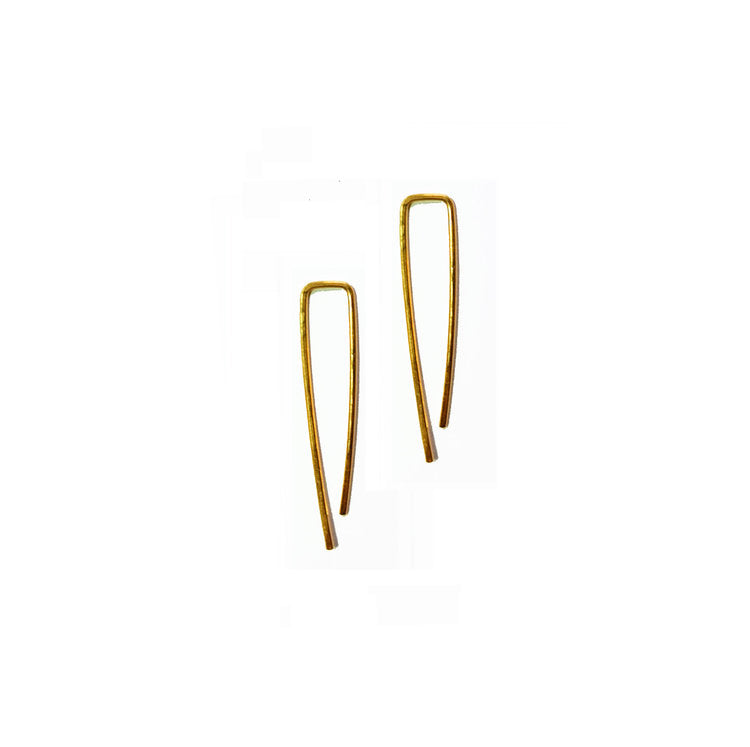14k GOLD MINI ARC EARRINGS