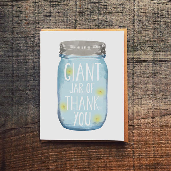 Giant jar of thank you