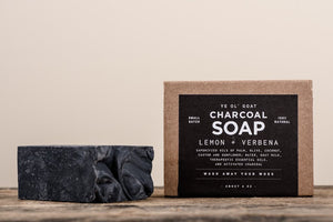 YE OL' GOAT CHARCOAL SOAP - LEMON + VERBENA