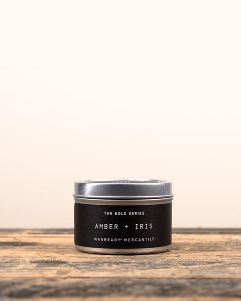 Amber + Iris Soy Travel Candle