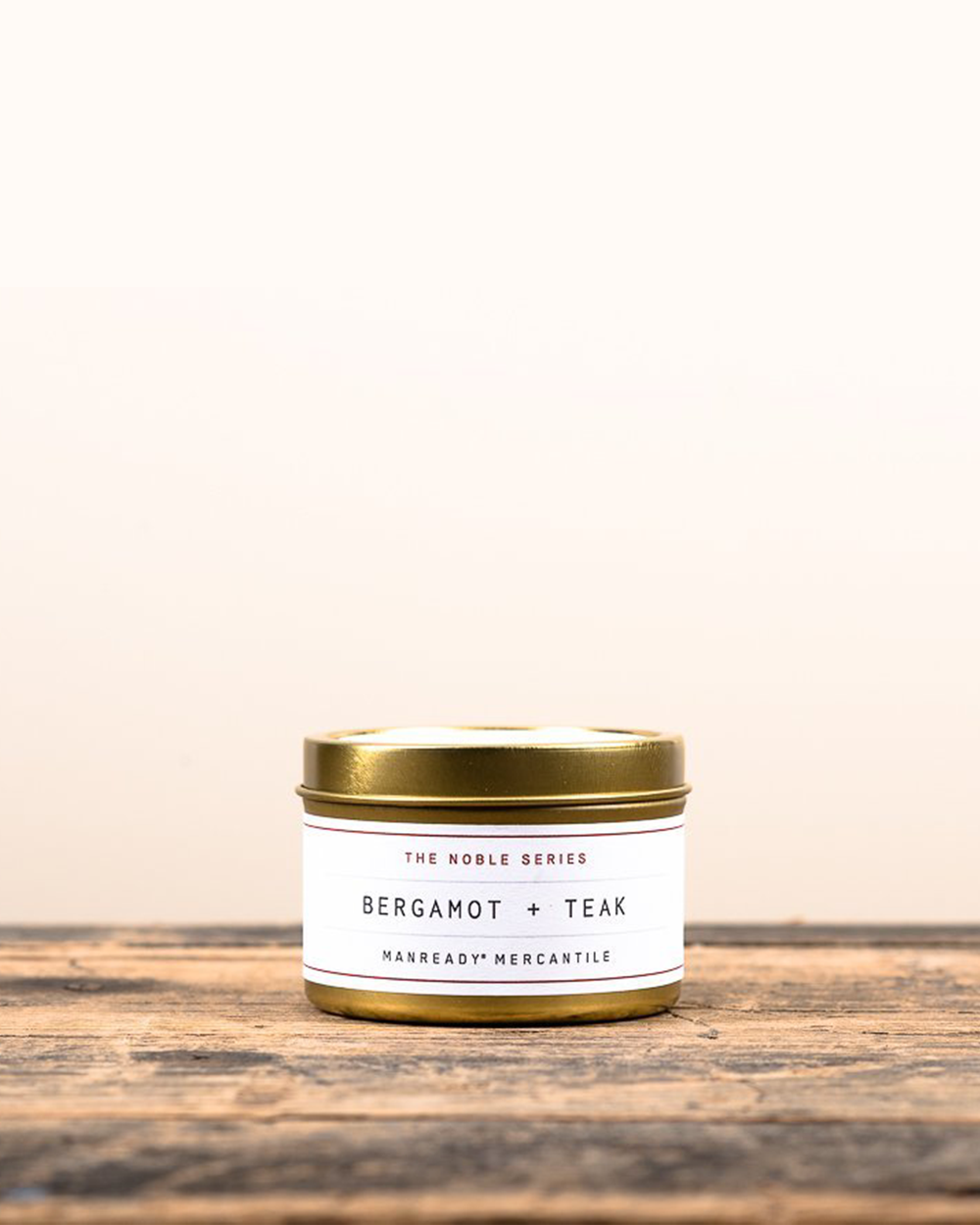 Bergamot + Teak Soy Travel Candle