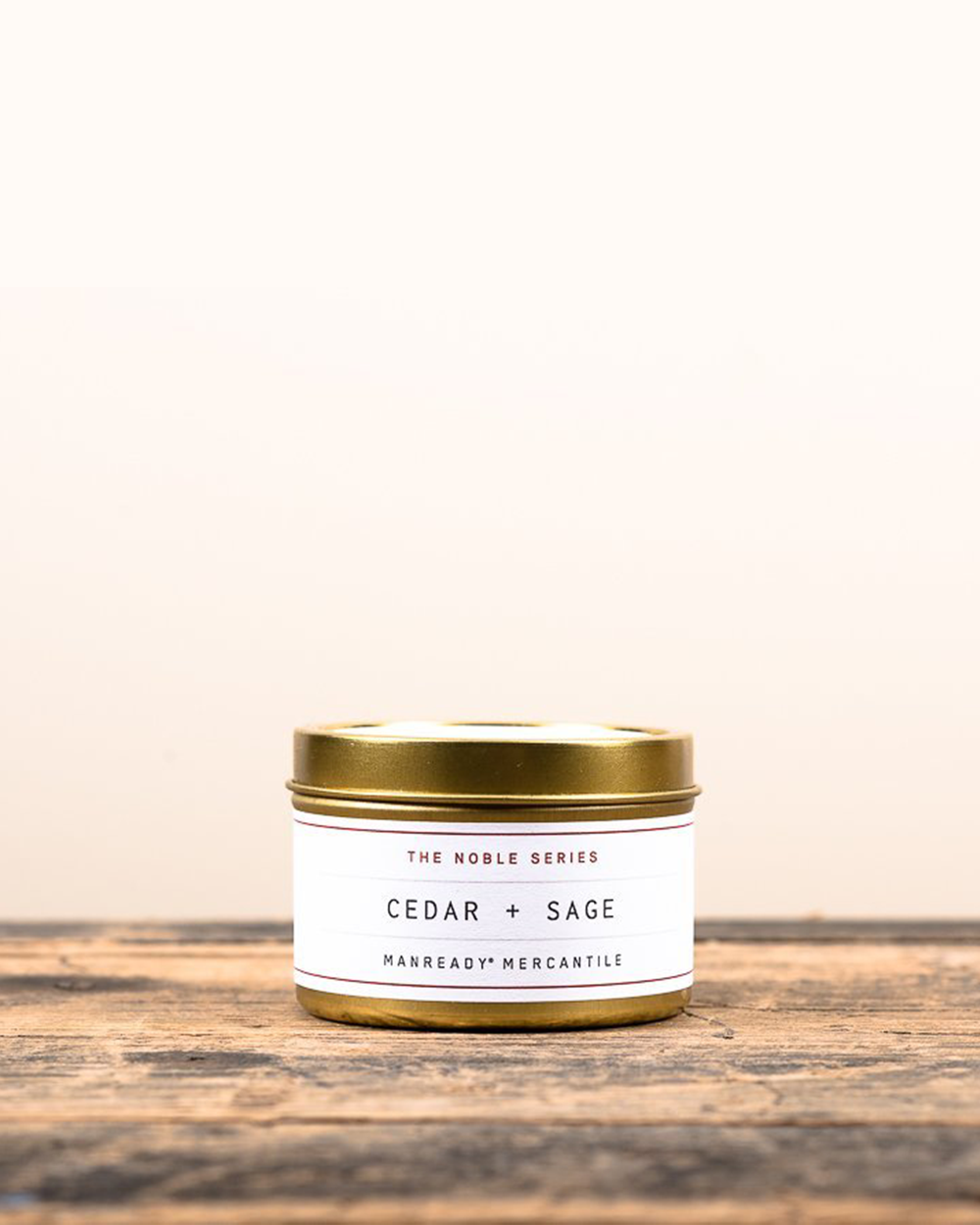 Cedar + Sage Soy Travel Candle