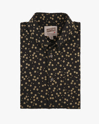 Short Sleeve Easy Shirt - Japanese Golden Flowers