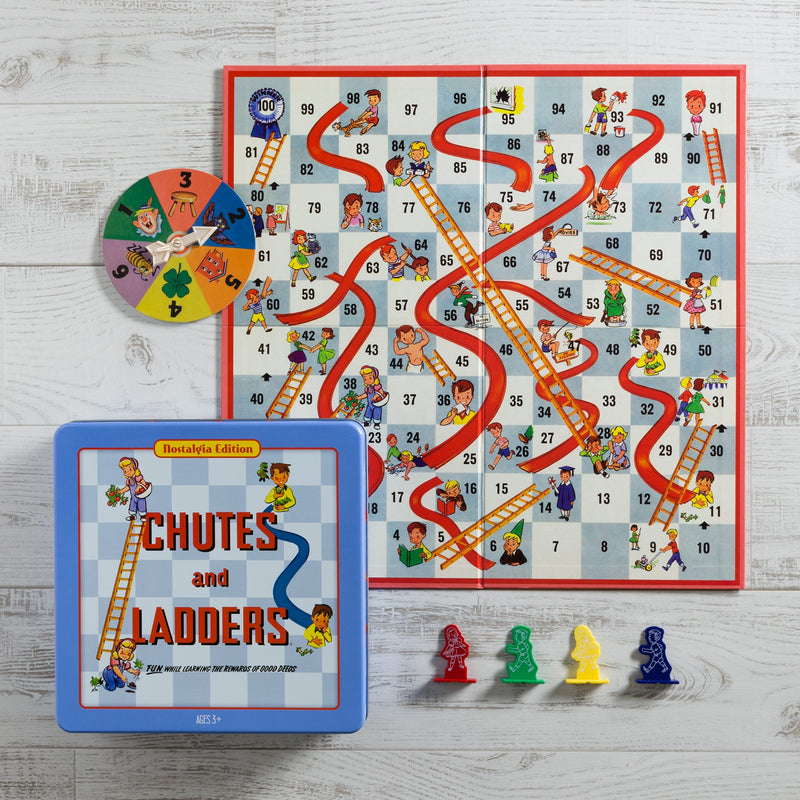 CHUTES AND LADDERS NOSTALGIA TRAVEL TIN