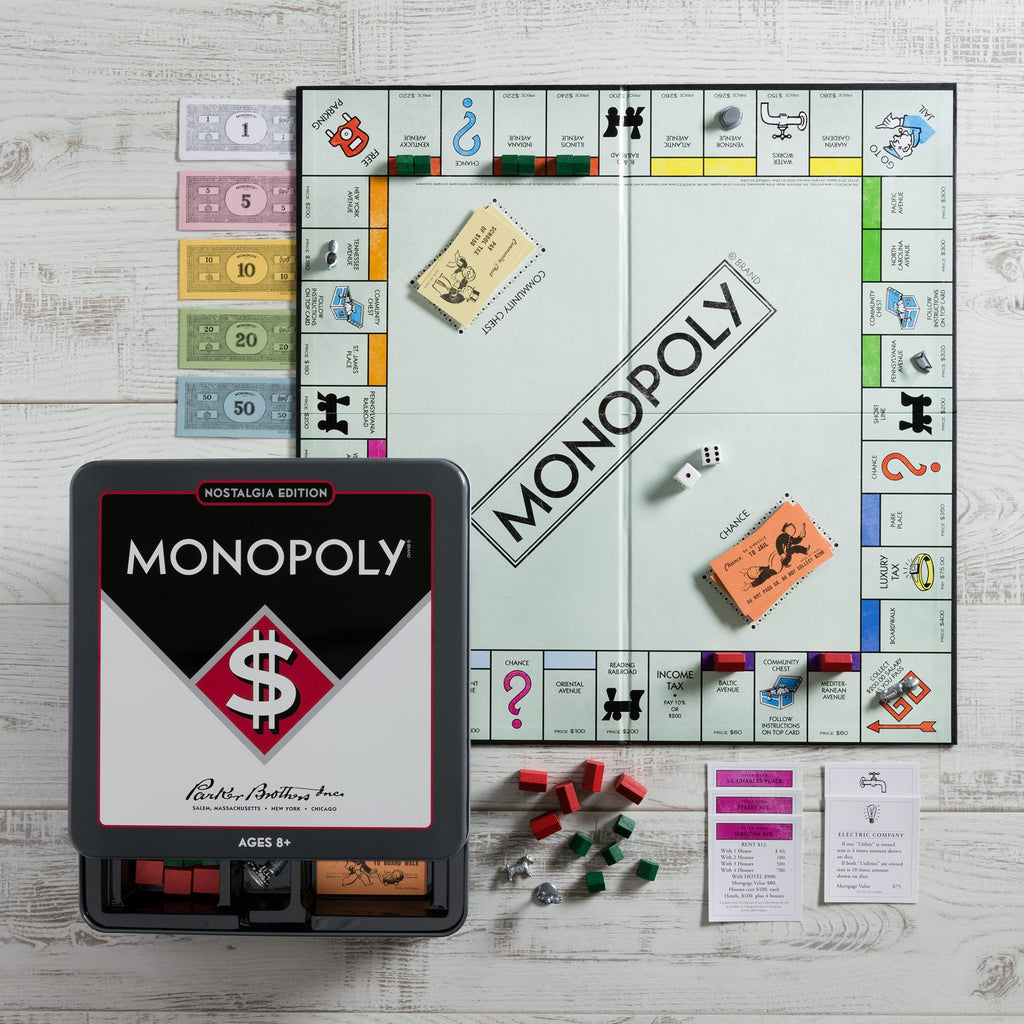 MONOPOLY NOSTALGIA TRAVEL TIN